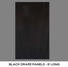 BLACK DRAPE PANEL - 8' LONG